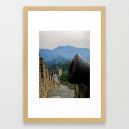 Cannon at the Great Wall of China Framed Art Print