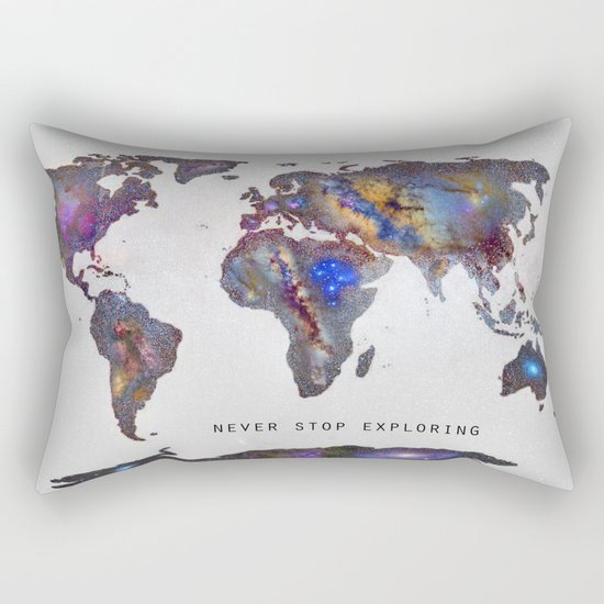 Star map. Never stop exploring... Rectangular Pillow