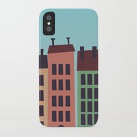 buildings iPhone & iPod Cases featuring Buildings by Frostwindz