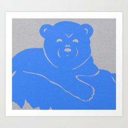 Polar Bear Screen print - Wild Veda Art Print