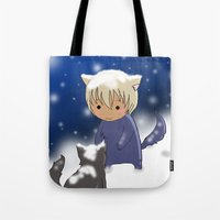 conan Tote Bags featuring Detective Conan by Black Wing
