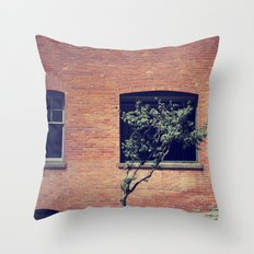 Tree on a Hill Throw Pillow