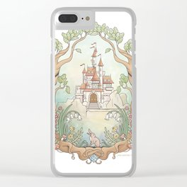 Castle in a Magical Forest Kingdom Clear iPhone Case