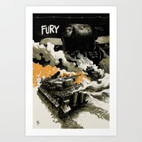 movie poster Art Prints featuring Movie Poster by Jamie Givens