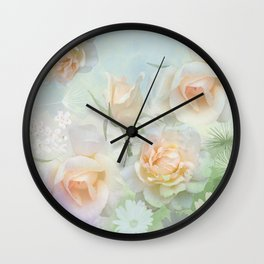 Dreaming of a Rosegarden Wall Clock