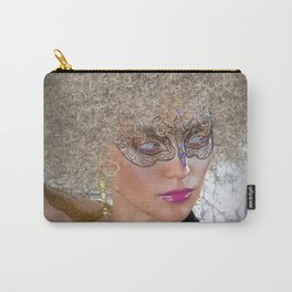 Afro Blonde Beautiful Masked Face Carry-All Pouch