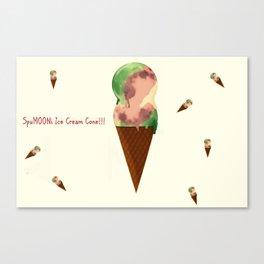 SpuMOONi Ice Cream Cone Canvas Print