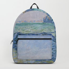 Shadows on the Sea at Pourville by Claude Monet Backpack
