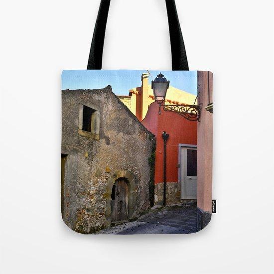 Medieval village of Sicily Tote Bag