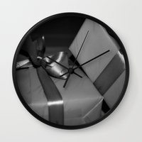 gift card Wall Clocks featuring Gift by Ruby_Dag