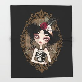 Countess Nocturne Vampire Throw Blanket