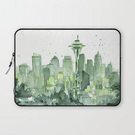 Seattle Watercolor Painting Laptop Sleeve