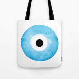 Watercolor Evil Eye Tote Bag