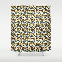 Friends and Foes of the 64-bit Plumber Shower Curtain