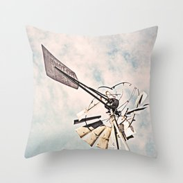 """Windmill Ruin"" by Murray Bolesta Throw Pillow"