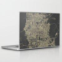 las vegas Laptop & iPad Skins featuring Las Vegas Map #1 by Map Map Maps