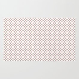 Rose Smoke Polka Dots Rug