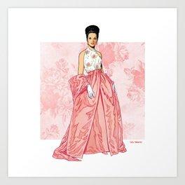 1962 Evening Gown Art Print