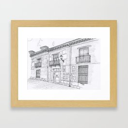 Streets of Alcalá Framed Art Print