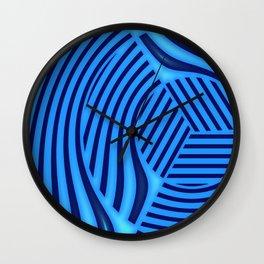 Edge in blue pattern Wall Clock