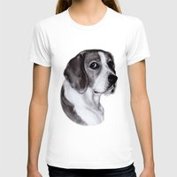 beagle T-shirts featuring Beagle by Danguole Serstinskaja