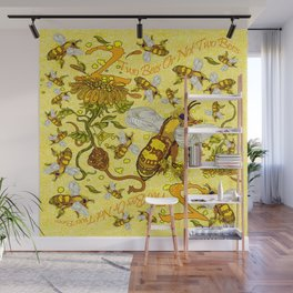 Two Bees or Not Two Bees!  Wall Mural