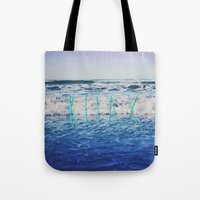 relax Tote Bags featuring Relax by Leah Flores