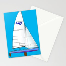 470 Olympic Sailboat Stationery Cards