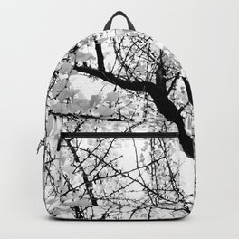 Ginko Leaves on Branches Black-and-White II Backpack