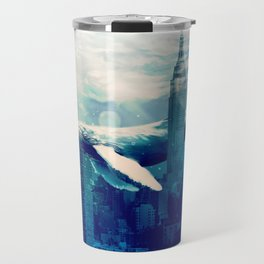 Blue Whale in NYC Travel Mug