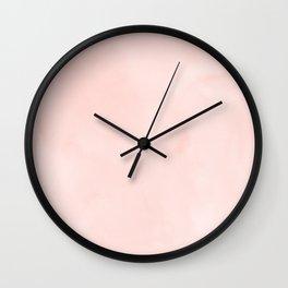 Seashell Pink Watercolor Wall Clock