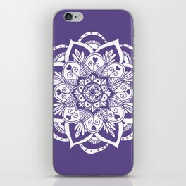 Ultraviolet Flower Mandala iPhone Skin