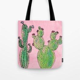 Woman and man cactus Tote Bag