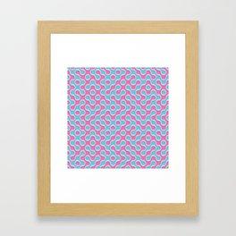 Blue Pink Truchet Tilling Pattern Framed Art Print