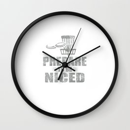 Prepare To Be Niced Disc Golf Distressed Wall Clock