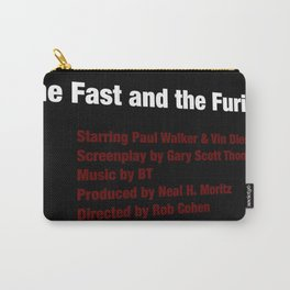 The Fast and the Furious cast & crew Carry-All Pouch