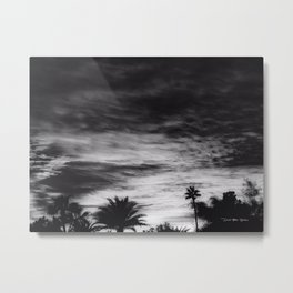 By The Time I Get To Phoenix - Black And White Metal Print