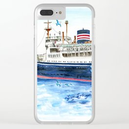 Yokohama Blue in Japan Clear iPhone Case
