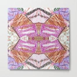 Abstract Crazy Quilt Mandala 1538 Metal Print