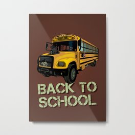 Back to school Metal Print