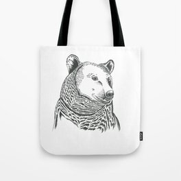 Bear Illustration Tote Bag