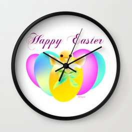 """Happy Easter Chick"" Wall Clock"