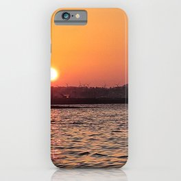 Sunset on the jeju  island sea in Korea iPhone Case