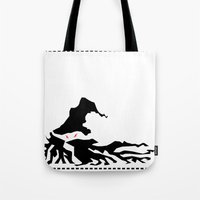 wizard Tote Bags featuring Wizard by Flying Cat Artwork