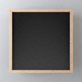 Realistic Carbon fibre structure Framed Mini Art Print