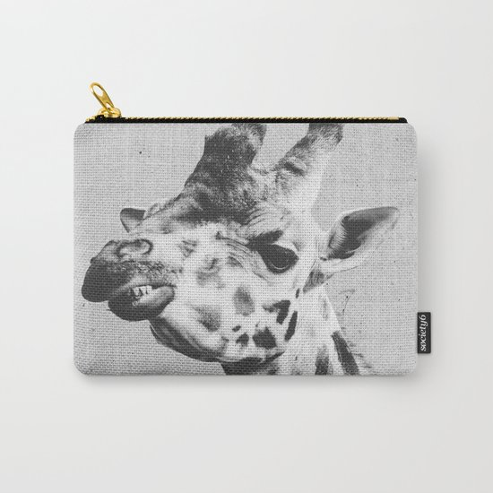 Black and White Giraffe Carry-All Pouch