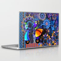 robots Laptop & iPad Skins featuring Robots by aboutlaila