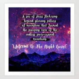 Welcome to The Night Court Art Print