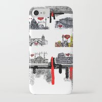 cities iPhone & iPod Cases featuring Cities 2 by sladja