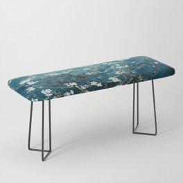 Van Gogh Almond Blossoms : Dark Teal Bench
